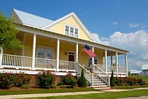 wraparound porch in Lucas Point of the Waters near Montgomery, Alabama